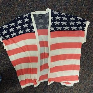 Size S/M Rue 21 American flag cardi!
